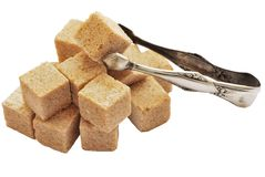 Cane sugar&shiptsy sugar Stock Image