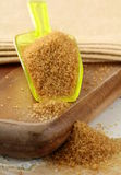 Cane sugar in spoon Royalty Free Stock Images