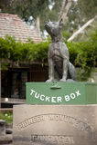 Cane sul Tuckerbox Fotografia Stock