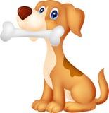 Cane sveglio con l'osso illustrazione di stock