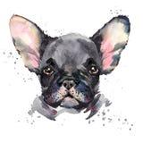 Cane sveglio Illustrazione del cucciolo di cane dell'acquerello illustrazione di stock
