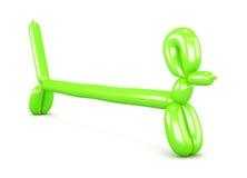 Cane verde del pallone Bassotti tedeschi della figurina rappresentazione 3d Fotografia Stock Libera da Diritti