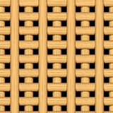 Cane wicker lattice in a seamless pattern Royalty Free Stock Photography