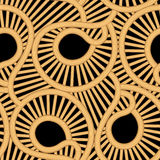 Cane wicker tear drop seamless pattern Royalty Free Stock Image