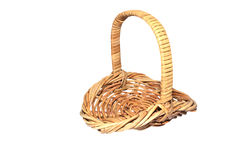 Cane woven basket isolated Royalty Free Stock Images