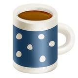 Caneca azul de chá Imagem de Stock