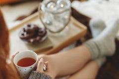Caneca com chá foto de stock