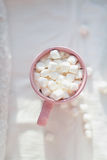 Caneca com marshmallows Foto de Stock Royalty Free