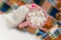 Caneca com marshmallows, Imagem de Stock Royalty Free