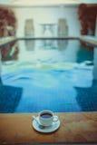 Caneca de café com associação Foto de Stock Royalty Free