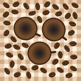 Caneca de café do menu com feijões de café ilustração stock