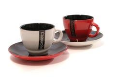 Caneca de café dois Imagens de Stock