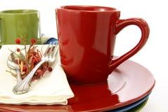 Caneca de café vermelha imagem de stock royalty free