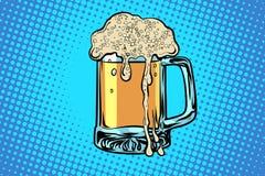 Caneca de cerveja bar do restaurante da barra ilustração stock