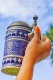 Caneca de cerveja cerâmica Foto de Stock Royalty Free