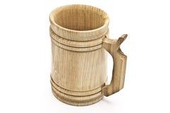 Caneca de cerveja de madeira Imagens de Stock