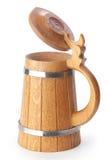 Caneca de cerveja de madeira foto de stock