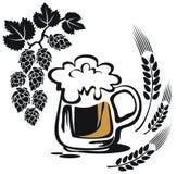Caneca de cerveja estilizado Fotografia de Stock