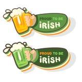 Caneca de cerveja irlandesa ilustração royalty free