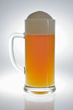 Caneca de cerveja no luminoso Fotografia de Stock