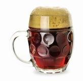Caneca de cerveja preta isolada Fotografia de Stock