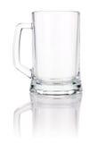 Caneca de cerveja vazia isolada no fundo branco Fotos de Stock Royalty Free
