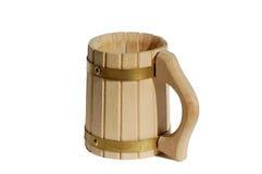 Caneca de madeira Foto de Stock Royalty Free