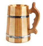 Caneca de madeira grande como o tambor imagem de stock