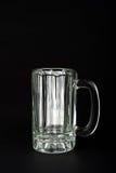 Caneca de vidro vazia Foto de Stock
