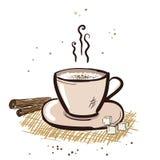 Caneca do Cappuccino. ilustração royalty free