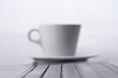 Caneca do portátil e de café Fotos de Stock