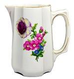 Caneca velha da porcelana com flores fotos de stock royalty free