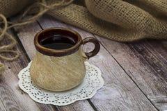 Caneca velha do chá Foto de Stock