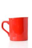 Caneca vermelha fotografia de stock