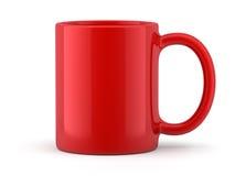 Caneca vermelha isolada Fotos de Stock Royalty Free