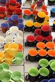 Canecas cerâmicas   Fotografia de Stock