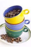 Canecas de café coloridas Imagens de Stock Royalty Free