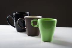 Canecas de café diferentes Foto de Stock Royalty Free