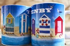 Canecas de Tenby Imagem de Stock Royalty Free