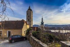 Caneco de cerveja um der Donau Krems um der Donau Estado federal de Baixa Áustria, vale de Wachau, Áustria imagem de stock