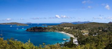 Caneel Bay on St John Stock Image