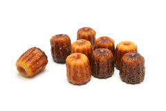 Canelé. French pastry with a soft and tender custard center and a dark, thick caramelized crust. Specialty of the Bordeaux region Royalty Free Stock Photography