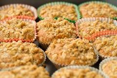 Canela-Apple ahueca la torta con el desmoche crujiente Imagen de archivo libre de regalías