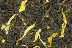 Canela de la vainilla del té negro Imagen de archivo libre de regalías