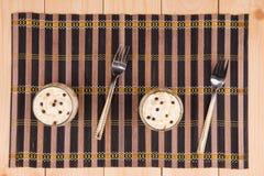Canela poner crema de las naranjas Imagen de archivo
