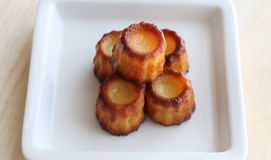 Canele. Small French pastry  in Bordeaux region Royalty Free Stock Photos