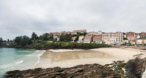 Caneliñas plaża w Rias Baixas w Pontevedra zdjęcia stock