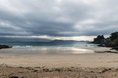 Caneliñas plaża w Rias Baixas w Pontevedra obraz royalty free