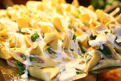 Canelone With White Sauce Royalty Free Stock Photos