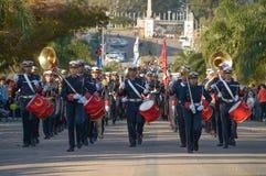 """CANELONES, URUGUAY-†""""am 18. Mai 2018: Musikalisches Band der uruguayischen Armee, Jahrestag 207 von Batalla de Las Piedras Stockbild"""